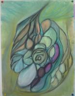 Ferrari-Nunes, Rodrigo (2010) 'Egg Key' (Chalk Pastels on Paper)