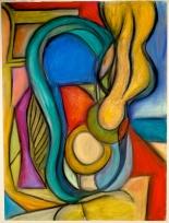 Ferrari-Nunes, Rodrigo (2011) Interdimensional #1 (Chalk Pastels on Paper)